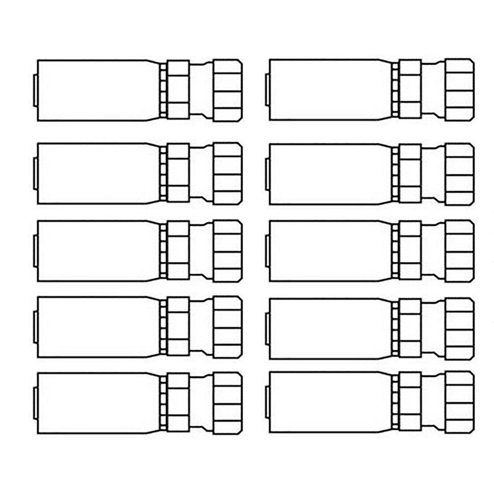 Set of 10 Female Jic 37/° Swivel Straight Crimp Coupling Various Applications /& Models Replaces FJX-08-10 HU0810NJ HY08-10FJ HYM40-0012/_2