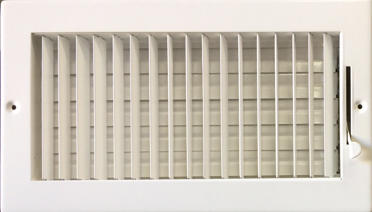Adjustable Blade Ceiling/Sidewall Diffuser(Register) 12'' X 6'' (duct opening size) by KozziAir (Image #1)