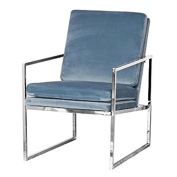 Mr Do Samt Sessel Blau Stuhl Loungesessel Armlehnenstuhle