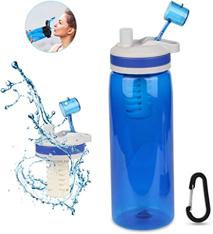 Etmury Filtro Agua Botella 770ml Filtro Purificador de Agua ...