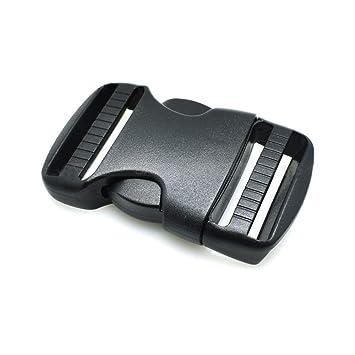 5 hebillas de plástico duro de doble liberación, liberación lateral ajustable, para cinturones y