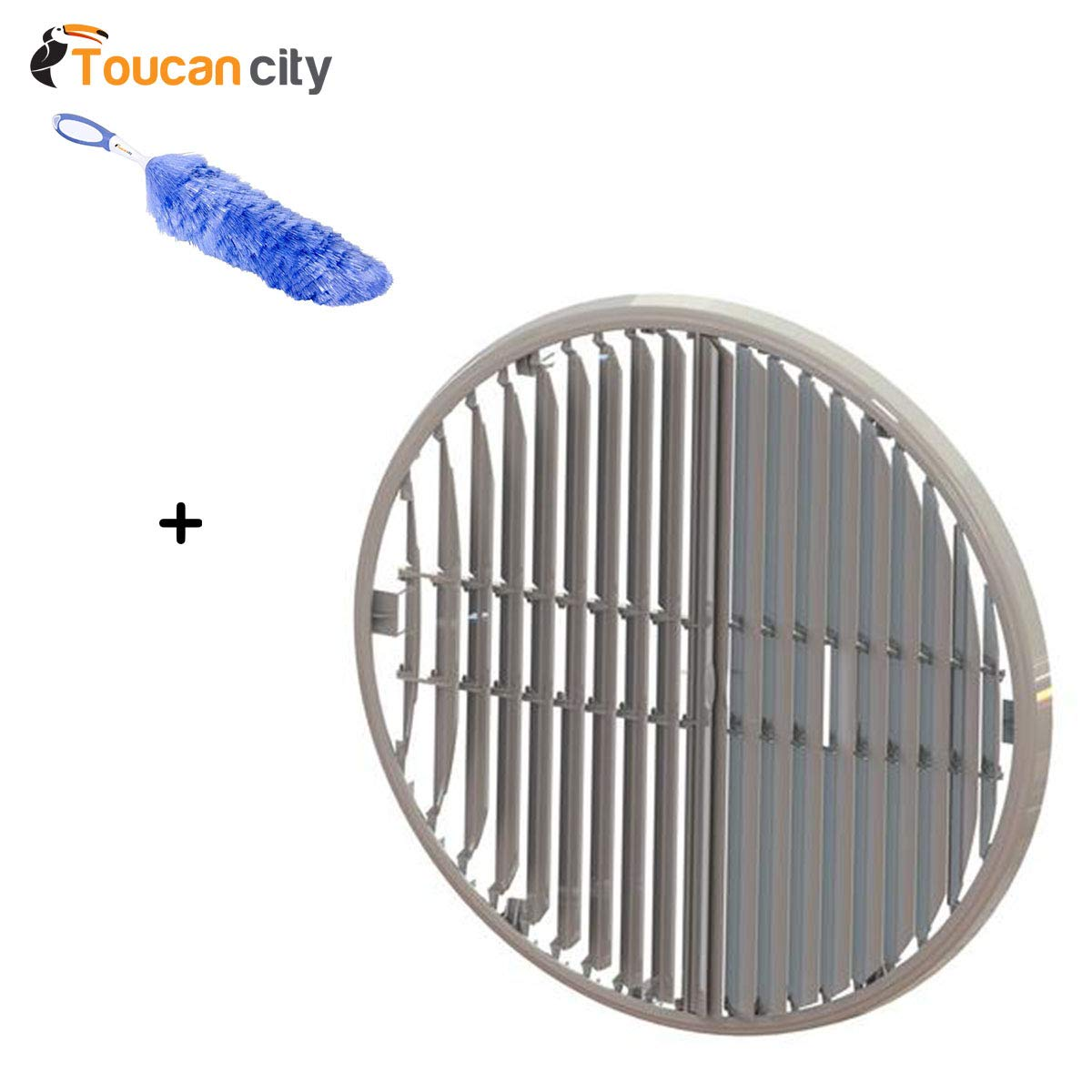 Toucan City Flexible Static Duster and Bonaire Durango Directional Louver for Bonaire Durango Window and Portable Evaporative Cooler 6281925SP Toucan City + Bonaire Durango