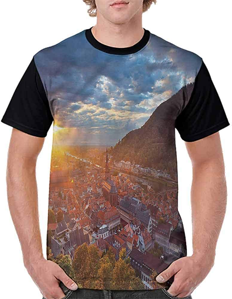 Performance T-Shirt,Heidelberg German Sunset Fashion Personality Customization
