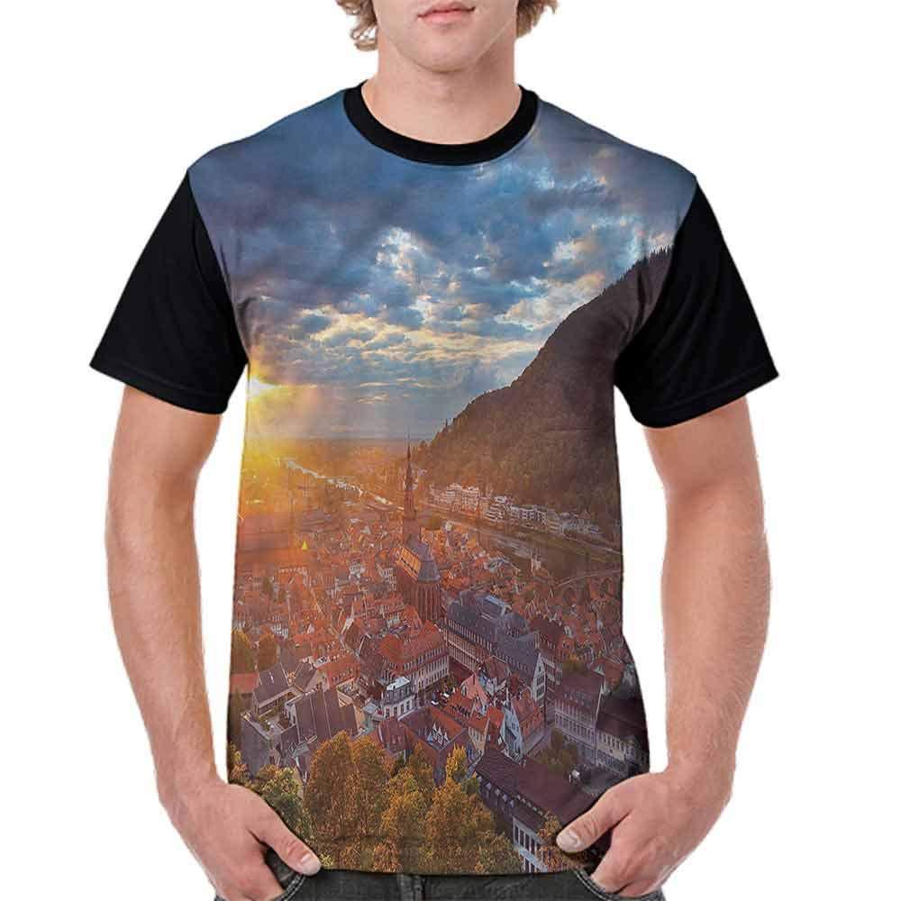 Trend t-Shirt,Heidelberg German Sunset Fashion Personality Customization