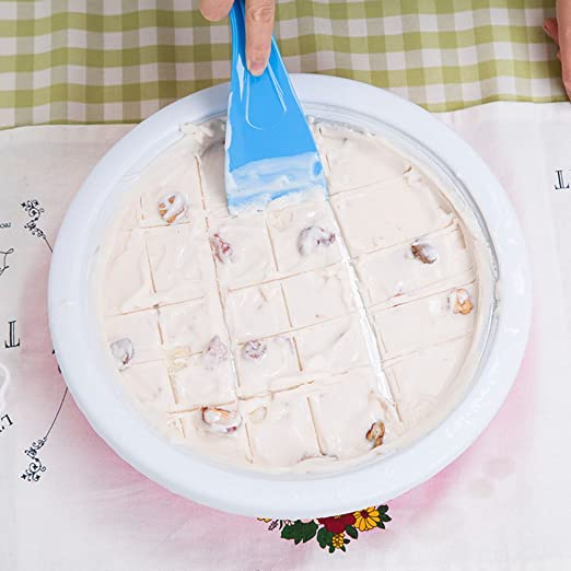 Bloomma Heladera instantánea, máquina no electrónica de heladería rápida para leche, yogur, fruta, helado, placa para hacer pan, 11.81×11.81×2.56 ...