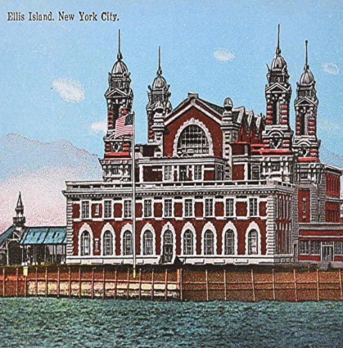 3dRose Ellis Island, new York City Vintage Postcard Reproduction - Greeting Cards, 6 x 6 inches, set of 6 (gc_170126_1) (Island Postcard)