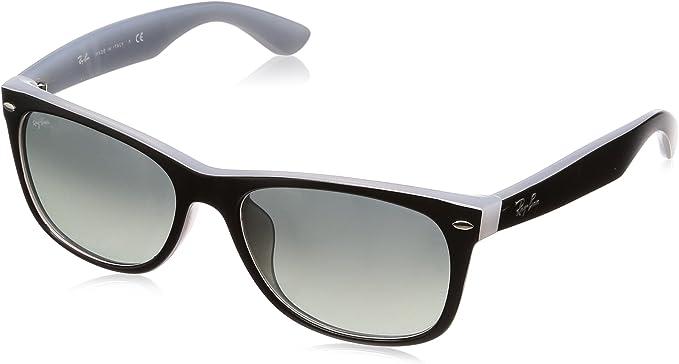 Ray-Ban Hombres Nuevos Wayfarer (F) Cuadrados gafas de sol, Negro mate en el hielo Opal: Amazon.es: Ropa y accesorios
