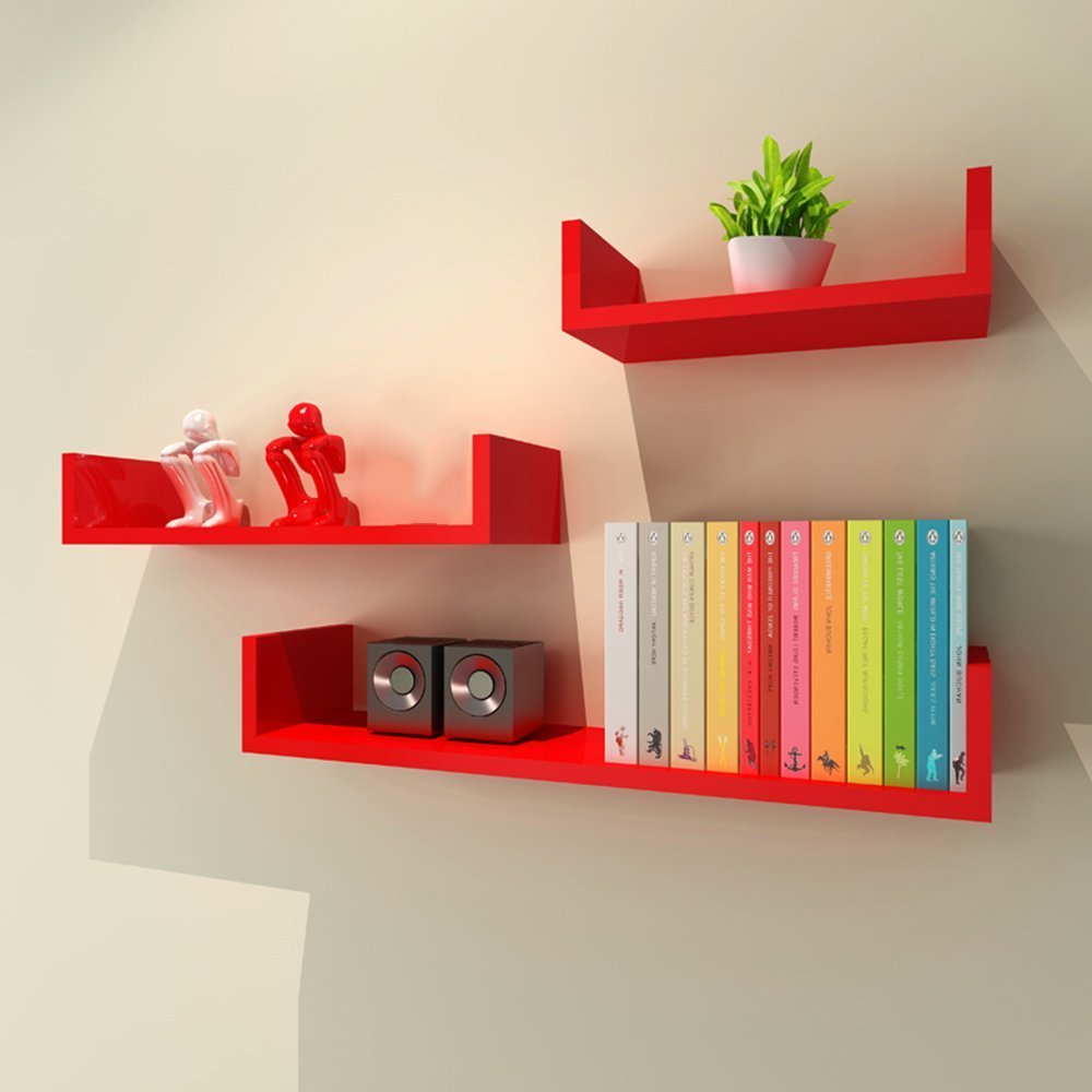 HOMEE Living Room Backdrop Bookshelf Partition Wall Room Bedroom Decoration Shelves Wall Decoration (Multiple Styles Available),V