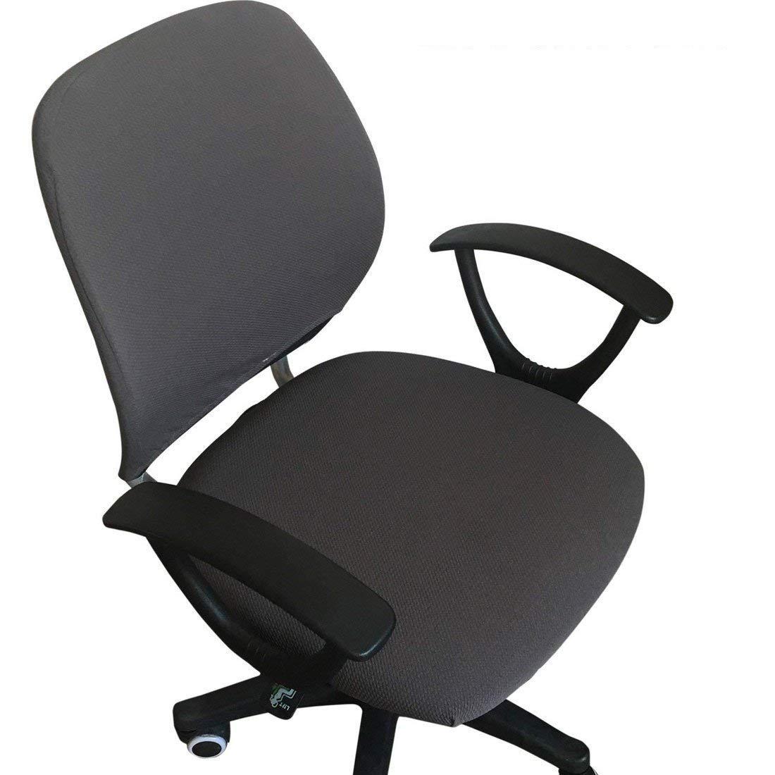 Frifer split sedia da ufficio fodera facile da indossare tratto sedia girevole da ufficio con schienale copertura Dark Grey