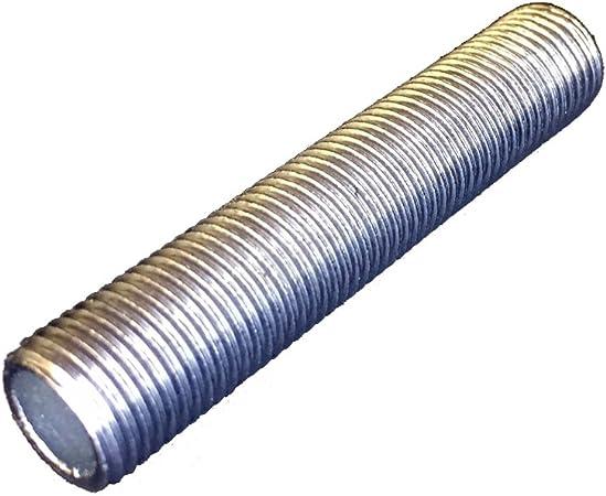 longueur 20 mm pas 10 mm par 1mm tubes filetés en acier lot de 10