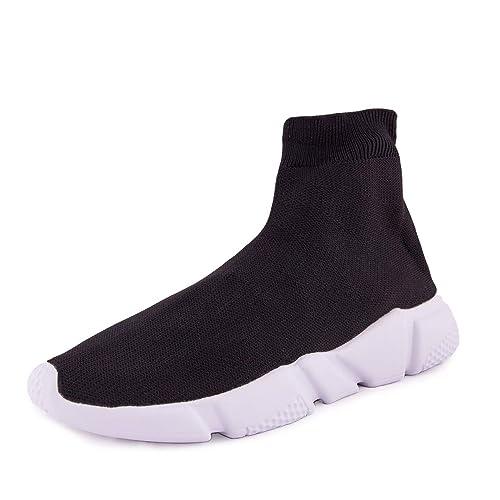 prezzo competitivo 0f6a4 3d1fd A-Round Scarpe Uomo Ginnastica Sneakers calzino Slip on