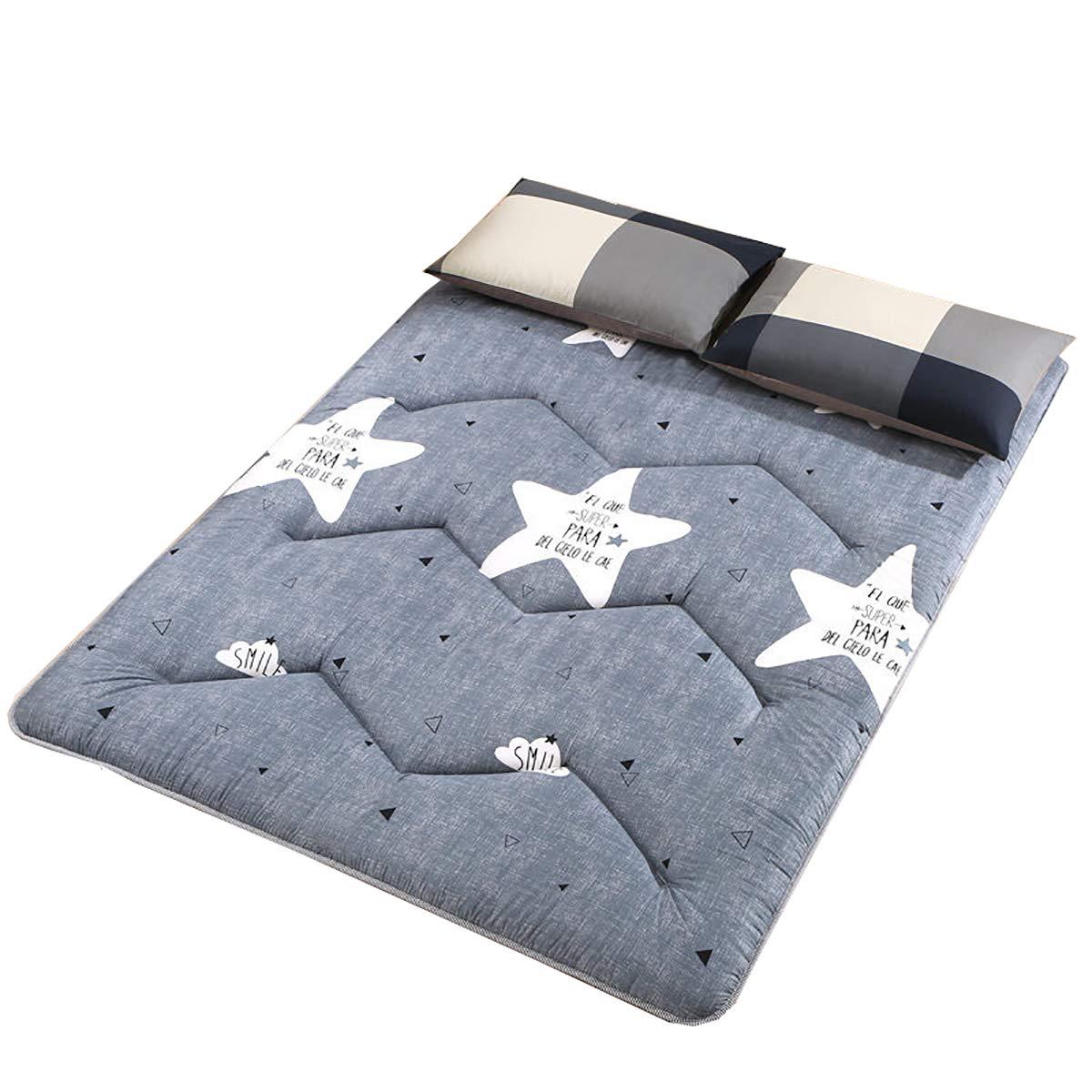 B 90200cm Mattress Topper, Sleeping Tatami Floor mat Quilted Hypoallergenic Folding Futon Mattress Soft Japanese Student Dormitory Mattress Pad,F,180  200cm
