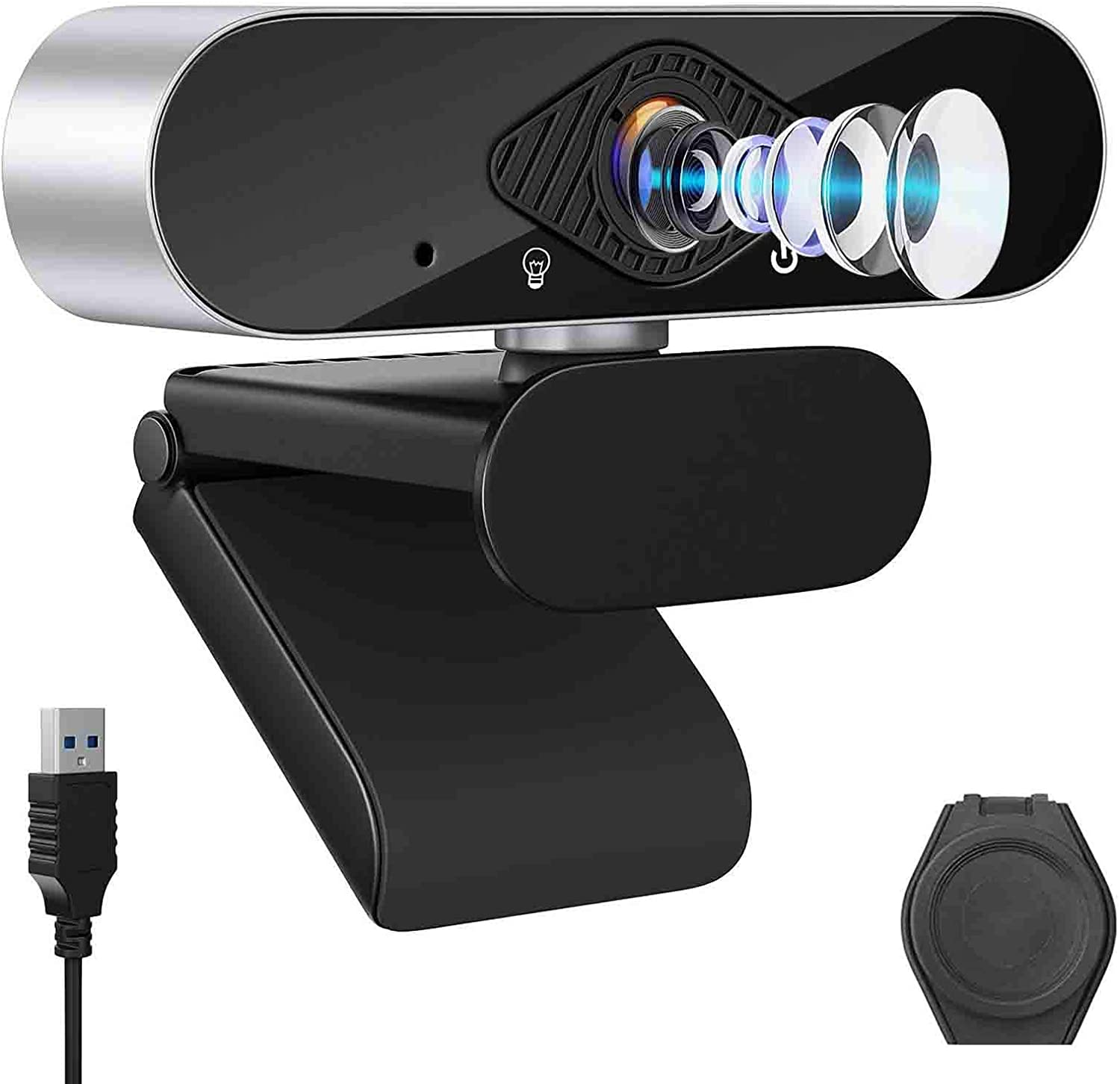 Computer Camera,1080P Webcam with Microphone,Web Cam Plug and Play Desktop and Laptop,Web cam for Windows Mac OS for Video Calls, Streaming,Conference,Online Teaching