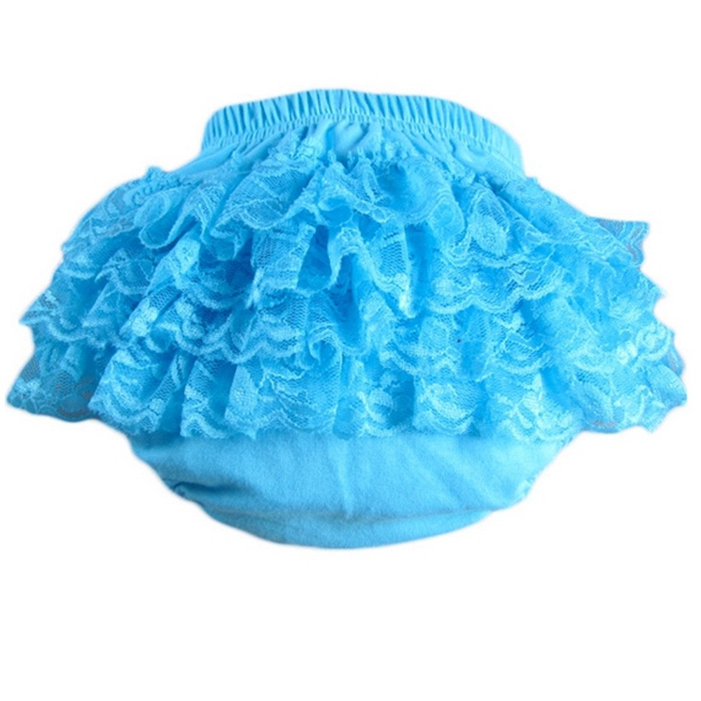 Lisianthus002 Baby Girls Lace Ruffles Bloomers Diaper Cover