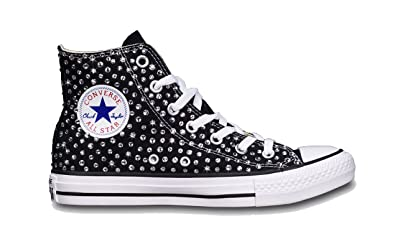078c1e62d6de Customized All Star Black Converse Swarovski handmade in italy by Mimanera  (38 EU   5.5