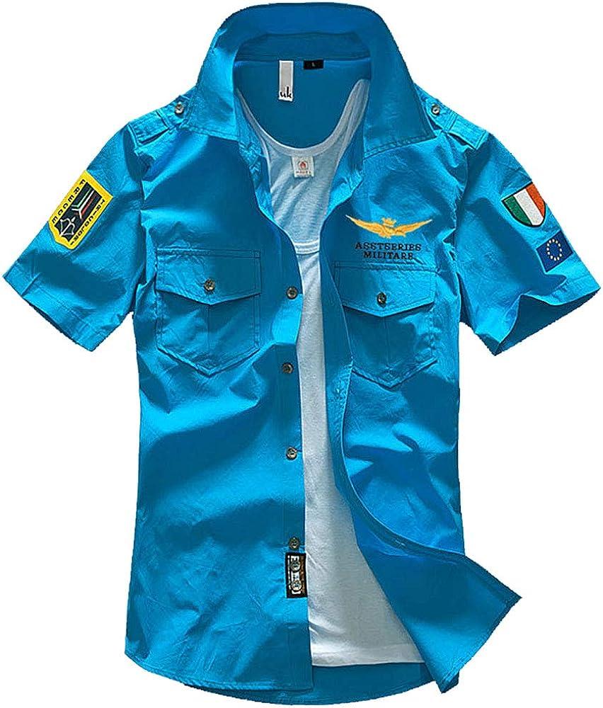 Star-bw Camisa Hombre Militar Manga Corta Juvenil Slim fit Casual gant (XXS, Azul): Amazon.es: Ropa y accesorios