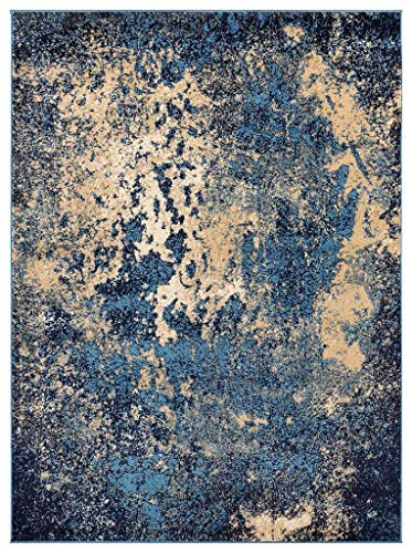 Luxe Weavers Howell Collection Abstract Blue 5x7 Area Rug