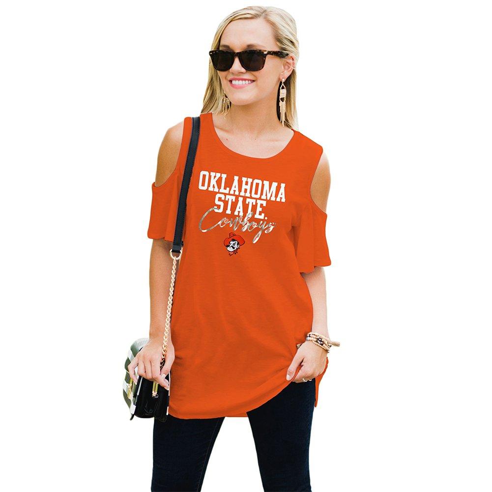 Gameday Couture Women's Cold Shoulder Top OSU Orange XL