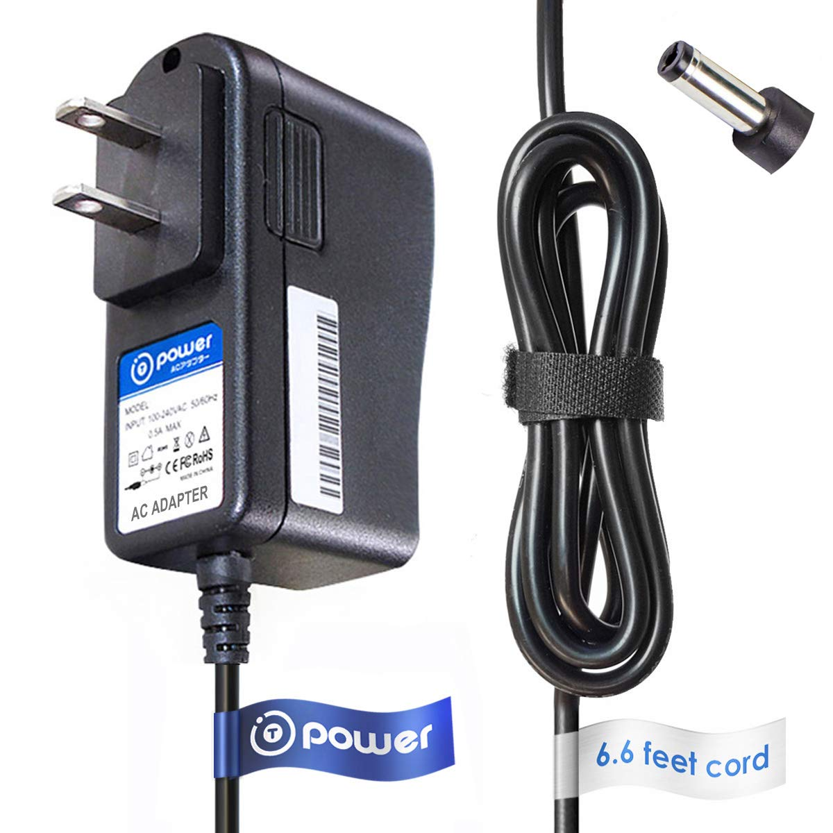 T-Power 9vdc (6.6ft Long Cable) AC Adapter Charger for Casio Piano Keyboard AD-5 AD-5MU AD5MU AD-5MLE AD-5GL AD5GL TC1#1035 (CTK, CA, MA, HT, LK, CT, Series) power supply cord charger