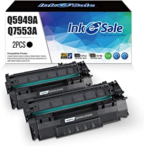 INK E-SALE Compatible Q5949A Q7553A Toner Cartridge Replacement for HP 49A Q5949A 53A Q7553A (Black 2 Pack) for use in HP Laserjet 1320 n P2015dn P2015 P2015n 3390 3392 1160 P2014 M2727nf MFP Printer