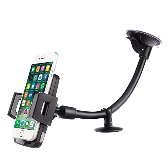 Upgrade Version Car Mount HANA Universal Flexible Long Arm Windshield Dashboard Holder Cradle