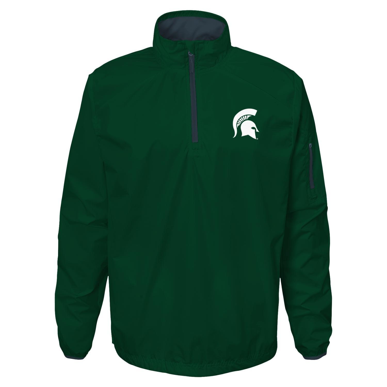 Colosseum Michigan Wolverines NCAA Screen Pass Mens 1//4 Zip Poly Slub Jacket