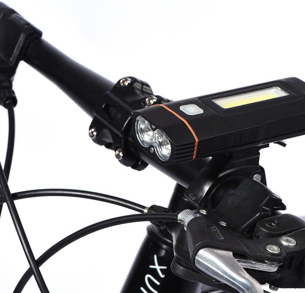 Lámpara Brillante cagable Delante de Bicicleta Lámpara LED Head ...