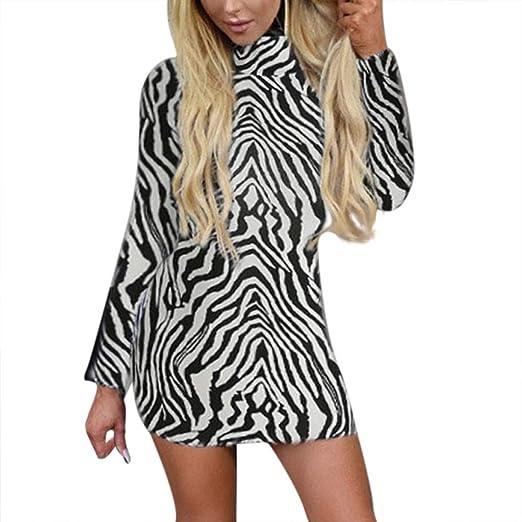 151e71226fe9 Women Zebra-Printed Dress Clearance sale, NDGDA Slim Skinny Casual Tight  Legging Mini Dress