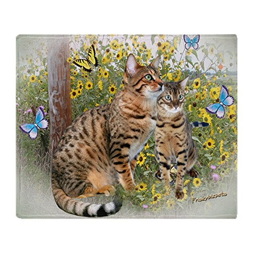 CafePress - Bengal Cats And Butterflies - Soft Fleece Throw Blanket, 50'x60' Stadium Blanket