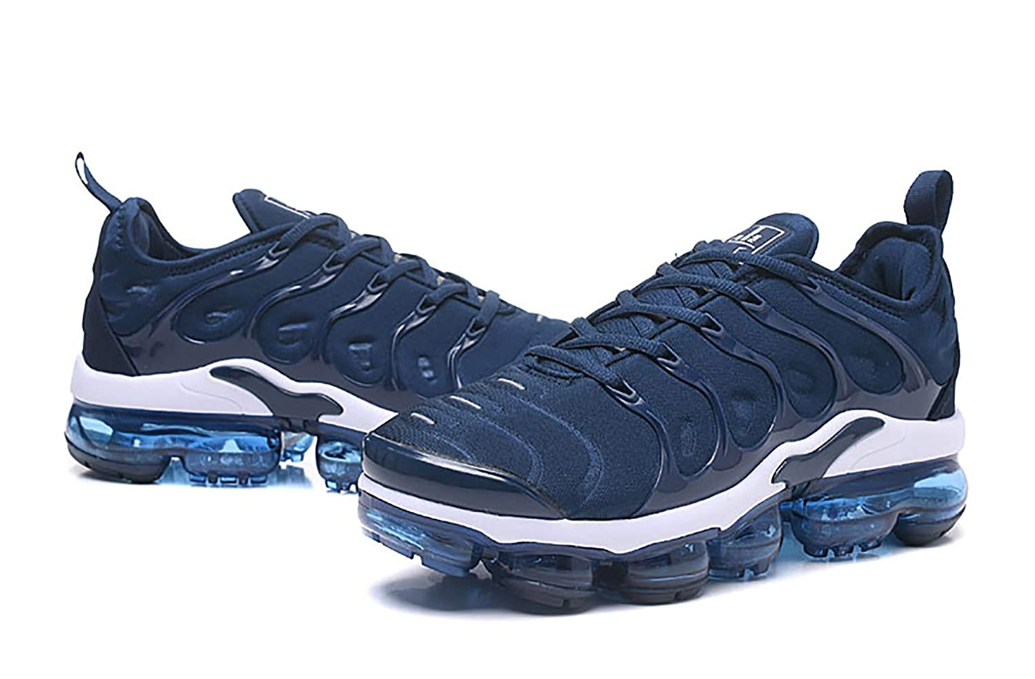 6a45aec942 Amazon.com | RUNSHOT Men's Air Vapormax Plus TN Running Shoe Basketball  Shoes -Dark Blue White | Fashion Sneakers