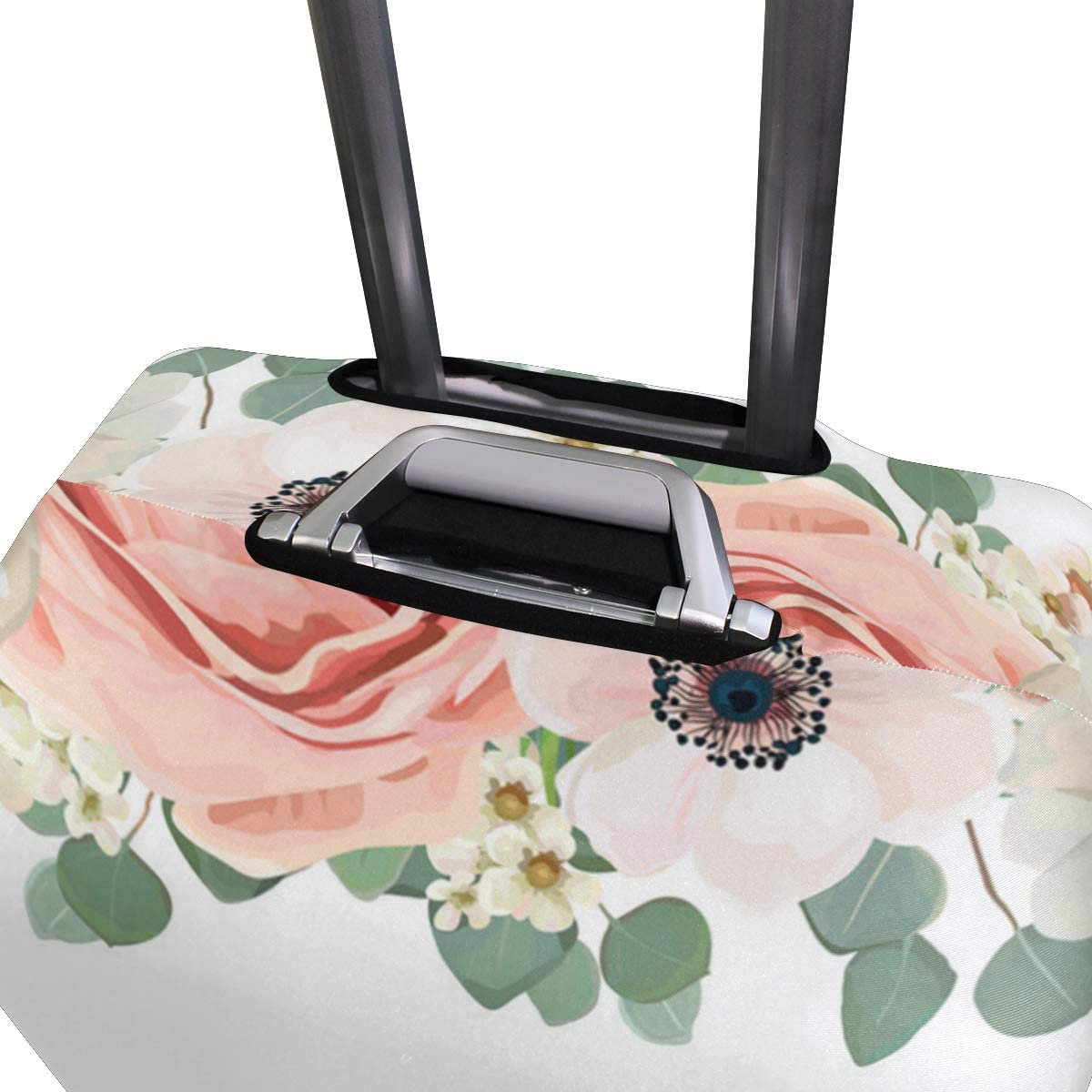 Bloom Rose Water Traveler Lightweight Rotating Luggage Protector Case Can Carry With You Can Expand Travel Bag Trolley Rolling Luggage Protector Case