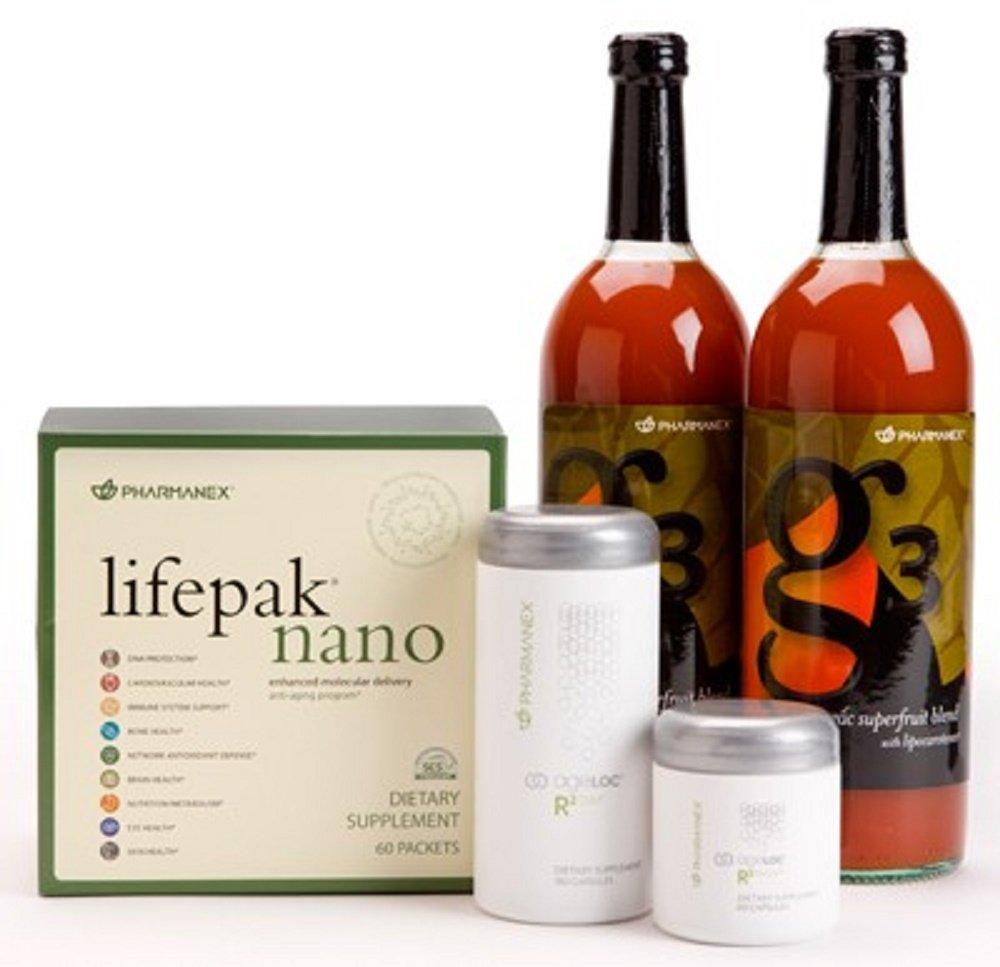 Pharmanex LifePak® Nano, ageLOC® R2, g3® (Bottle 2pk) Combo