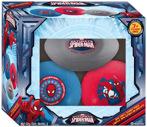 (Hedstrom Ultimate Spiderman Sport Balls, 3-Pack)