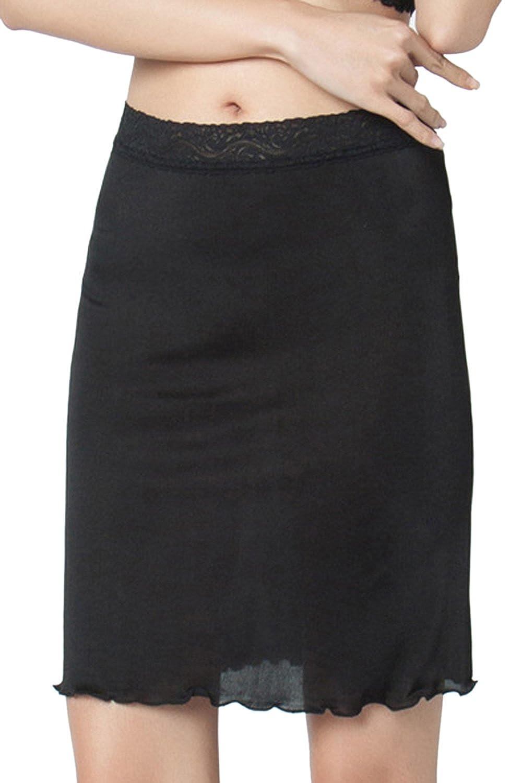 Zinmuwa Woman Under Skirt Silk Half Slips