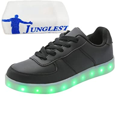 [Present:kleines Handtuch]Schwarz EU 45, JUNGLEST® Turnschuh Blink USB Männer Top Lade LED Frauen Paar leuch