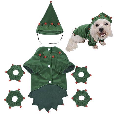 yunt Funny asistente de gatos disfraces de Halloween ropa vestido con sombrero de perro regalo único