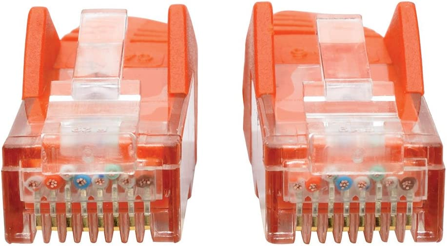 - White N201-025-WH 25-ft. Tripp Lite Cat6 Gigabit Snagless Molded Patch Cable RJ45 M//M