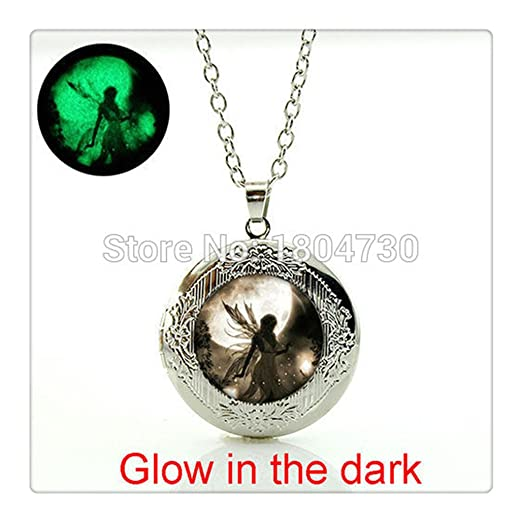Amazon fairy moonlight pendant necklace glowing dust fairy fairy moonlight pendant necklace glowing dust fairy pendant photo locket necklace fashion girls jewelry collar necklace aloadofball Image collections