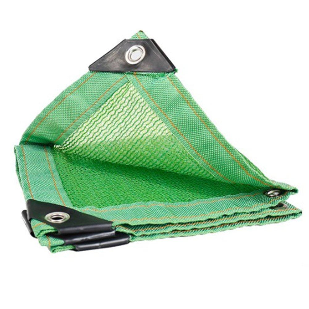 vert 6X8M Tent, rainproof sunscreen Filet Pare-Soleil écran de Prougeection Solaire 6 Points de Suture Wrap Edge vert Balcon Filet d'isolation de Jardinage, 23 Tailles