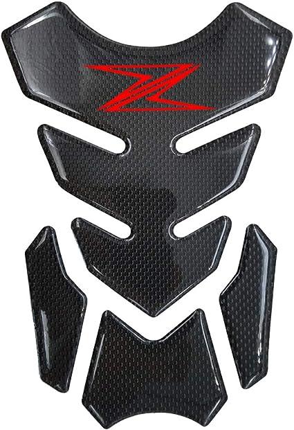 Red 3D Carbon Fiber Fuel Gas Tank Pad Sticker Decals for Kawasaki Z900 Z800 Z1000 Z750 Z650 SX