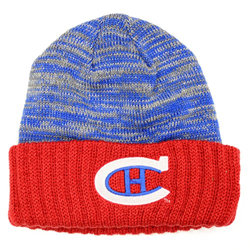 Mitchell & Ness Mens Winter Classic NHL Knit Hats (One Size, Montreal Canadiens Cuffed)