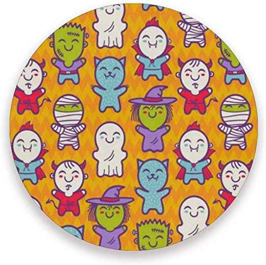 Coasters Cosplay Niños Disfraces de Halloween redondo taza Mat ...