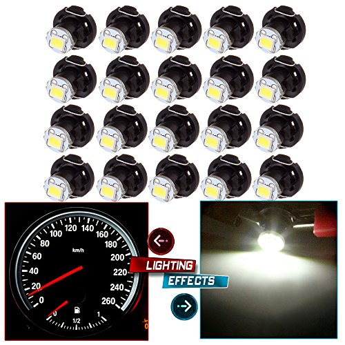 20 Pack White T4 T4.2 Neo Wedge 2835-SMD LED A/C Climate Heater Control Light Bulbs ()