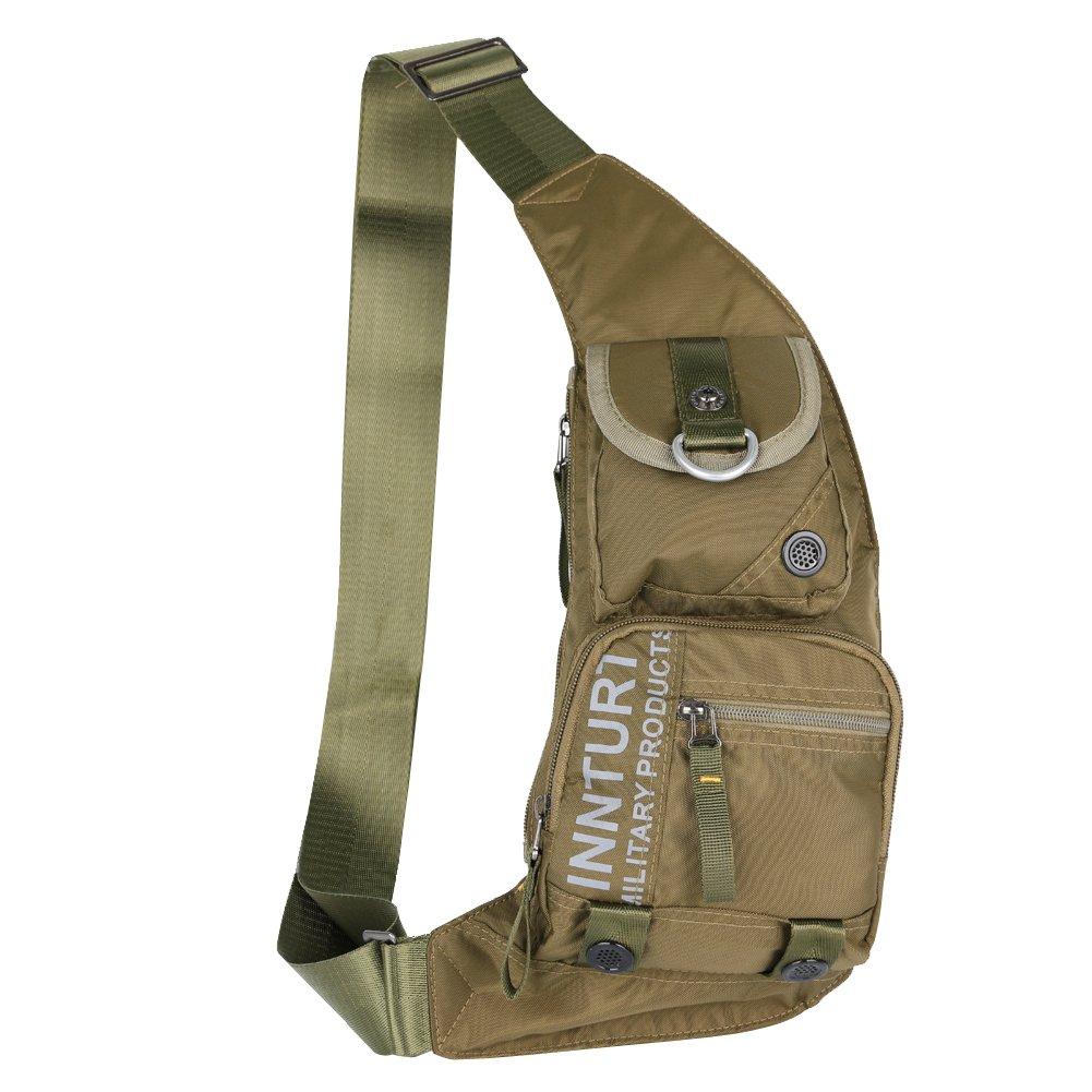 Kawei Knight Nylon Sling Chest Bag Multi-pocket - Army Green