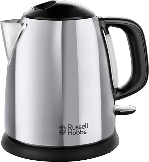 Russell Hobbs 24990GCC Small Electric Kettle 1 Litre Fast Boil Cordless, Compact,