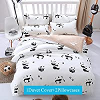 Ttmall 3-pieces Microfiber Duvet Cover Set, Brown Coffee Black Leopard Skin Patterns Design Prints,Without Comforter