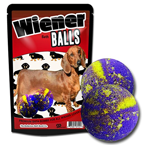 Wiener Balls Bath Bombs Funny Dachshund Gags for Dog Lovers XL Wiener Bombs Huge Bath Fizzers Weird Wiener Dog Bath Gags Jokes Weenie Dog Gags Funny Dog Gags Pranks Stocking Stuffers