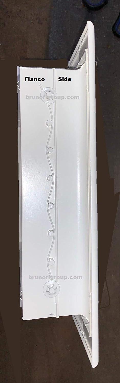blanc grille de refoulement en aluminium blanche Buse /à air double filaire avec ailettes orientables
