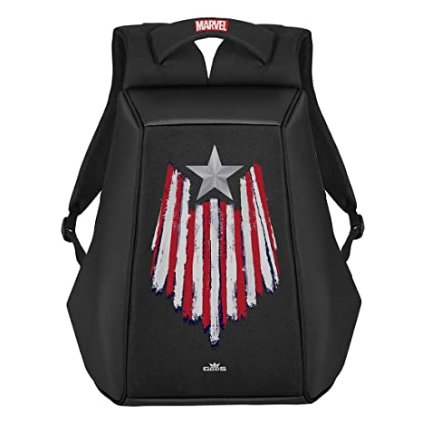 Captain America  Marvel Built Up Backpack Book Bag Travel Laptop Sleeve NEW TAGS