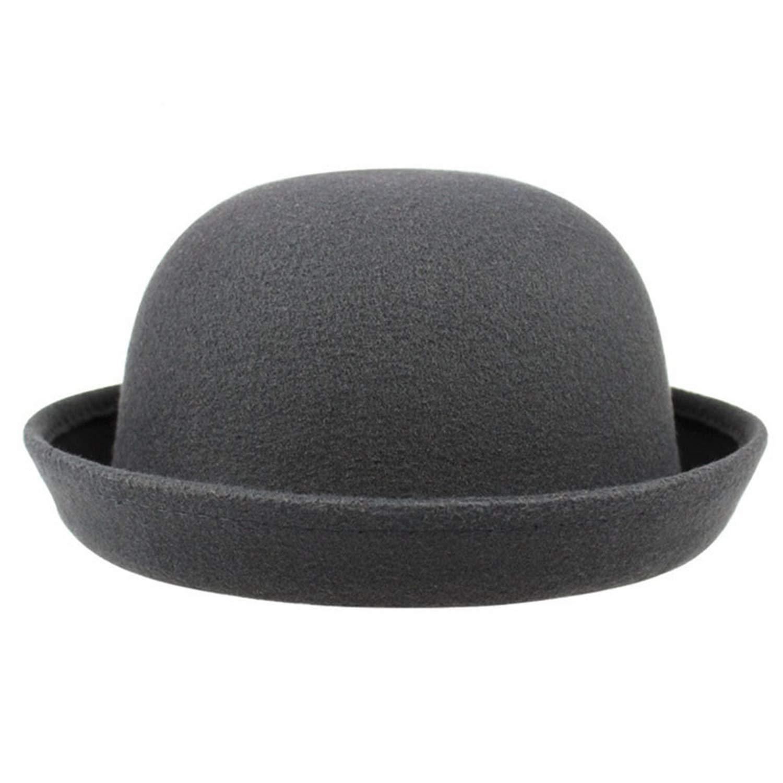 2018 New Winter Cap Vintage Lady Wool Felt Fedora Hats Vintage Fashion Wool Womens Cute Lady Hat Trendy
